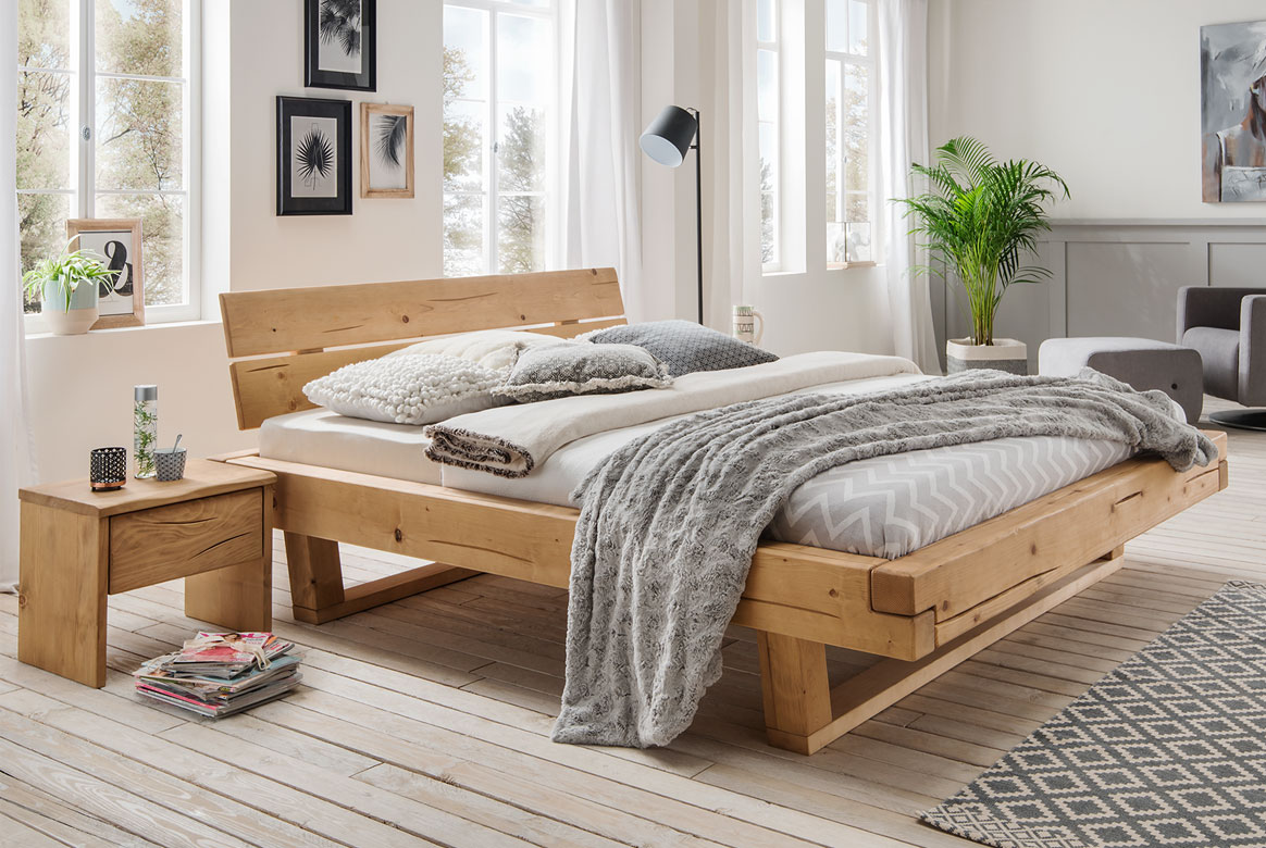 Bettgestell Fichte Massivholz Bett Unika | A01
