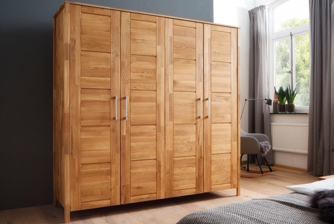 kleiderschrank massivholz zenna kernbuche ge lt s04. Black Bedroom Furniture Sets. Home Design Ideas