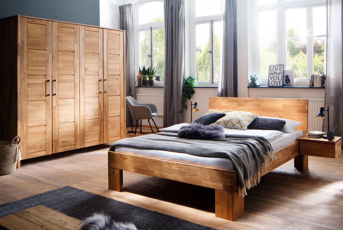 Schlafzimmer Massivholz komplett Zent | S12