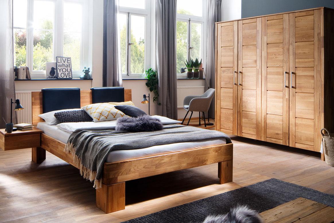 Schlafzimmer Massivholz | Zent | Wildeiche geölt | S12