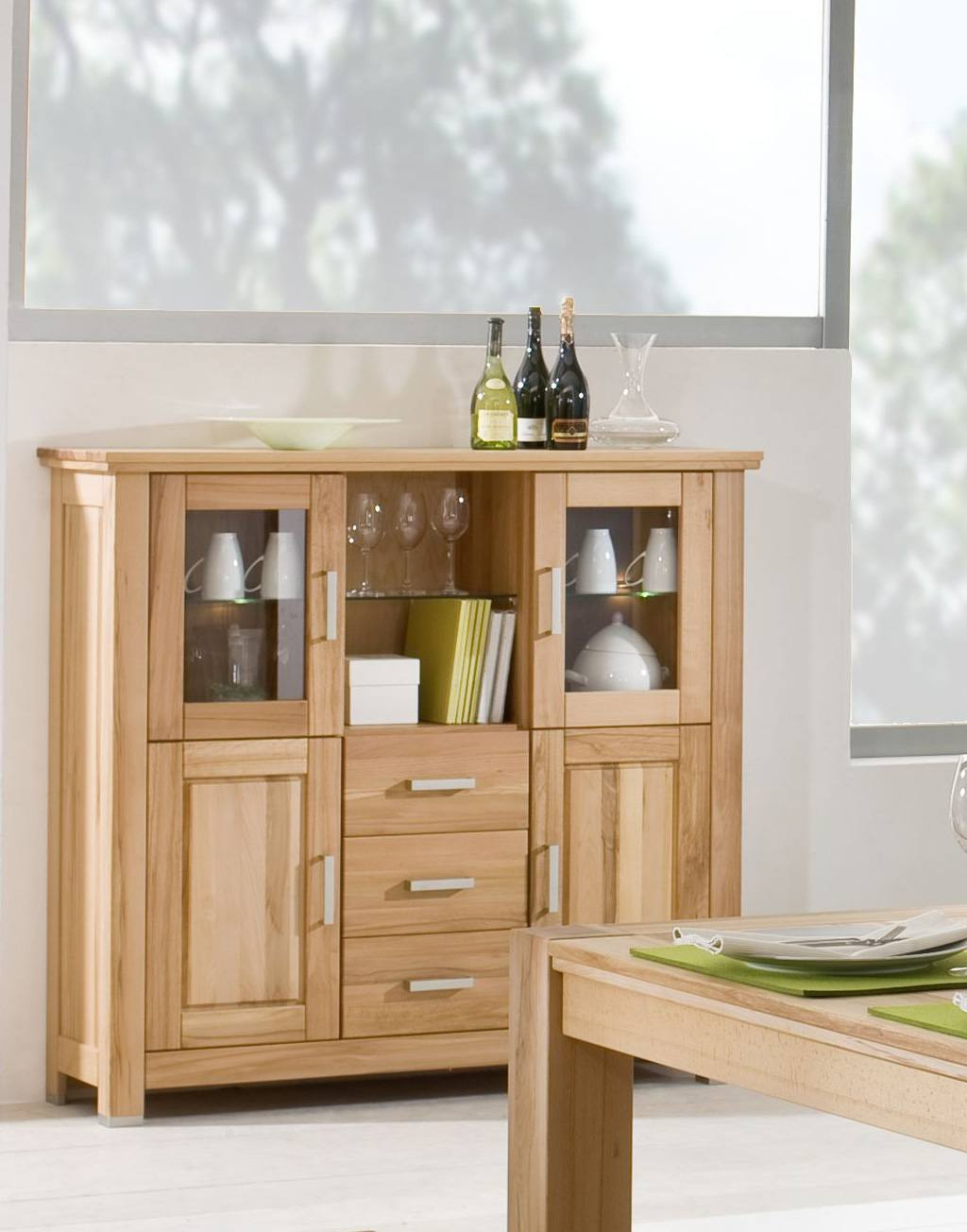 Highboard Massivholz Anna Kernbuche Geölt T67