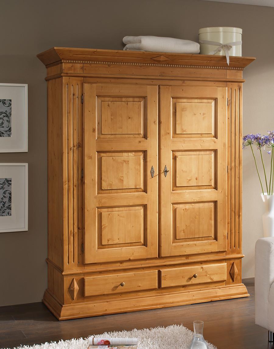 dielenschrank landhausstil isabella massivholz kiefer. Black Bedroom Furniture Sets. Home Design Ideas