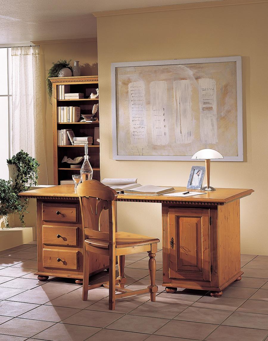 Schreibtisch landhausstil valentina fichte massivholz for Schreibtisch landhaus