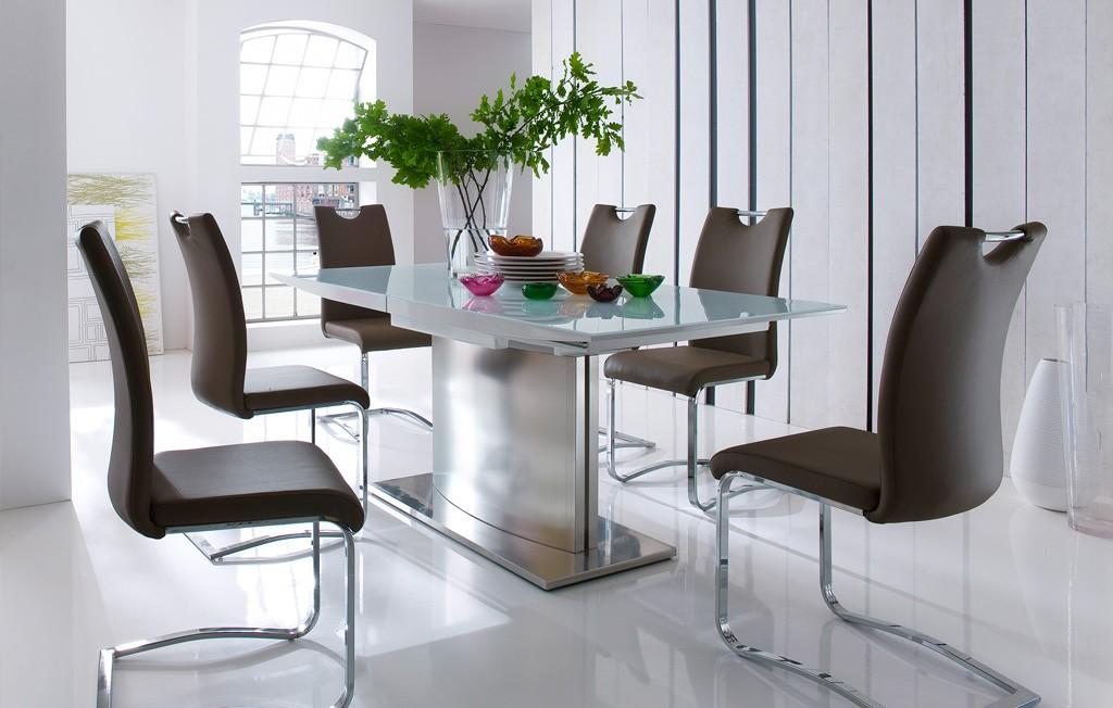 Tischgruppe Helio Sicherheitsglas mit Schwinger Köln