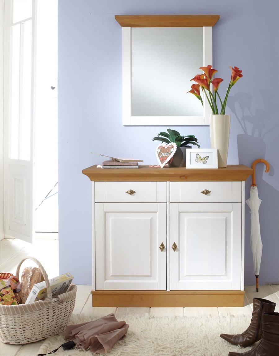 garderoben set landhausstil linea kiefer massivholz k02. Black Bedroom Furniture Sets. Home Design Ideas