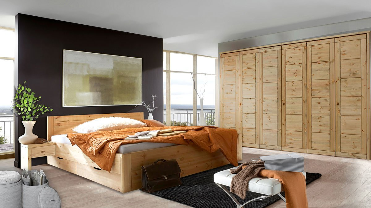 massivholz schlafzimmer rauna vita kiefer massiv se92. Black Bedroom Furniture Sets. Home Design Ideas