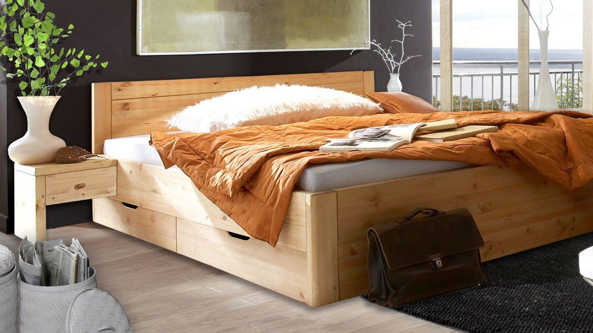 Massivholz Bett Rauna gebeizt - geölt