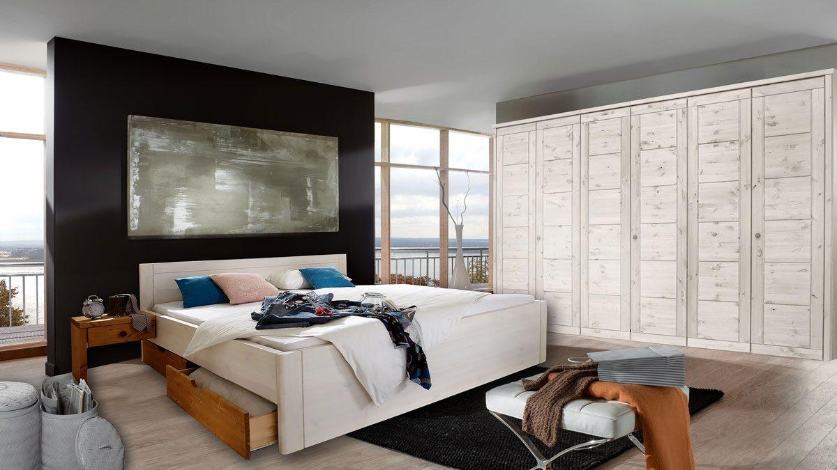 massivholz schlafzimmer rauna vita kiefer massiv se92. Black Bedroom Furniture Sets. Home Design Ideas