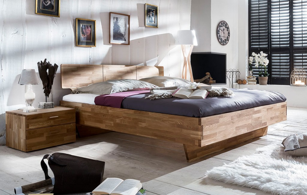 massivholzbett bettgestell g nstig woodlive kernbuche o wildeiche cielo ebay. Black Bedroom Furniture Sets. Home Design Ideas