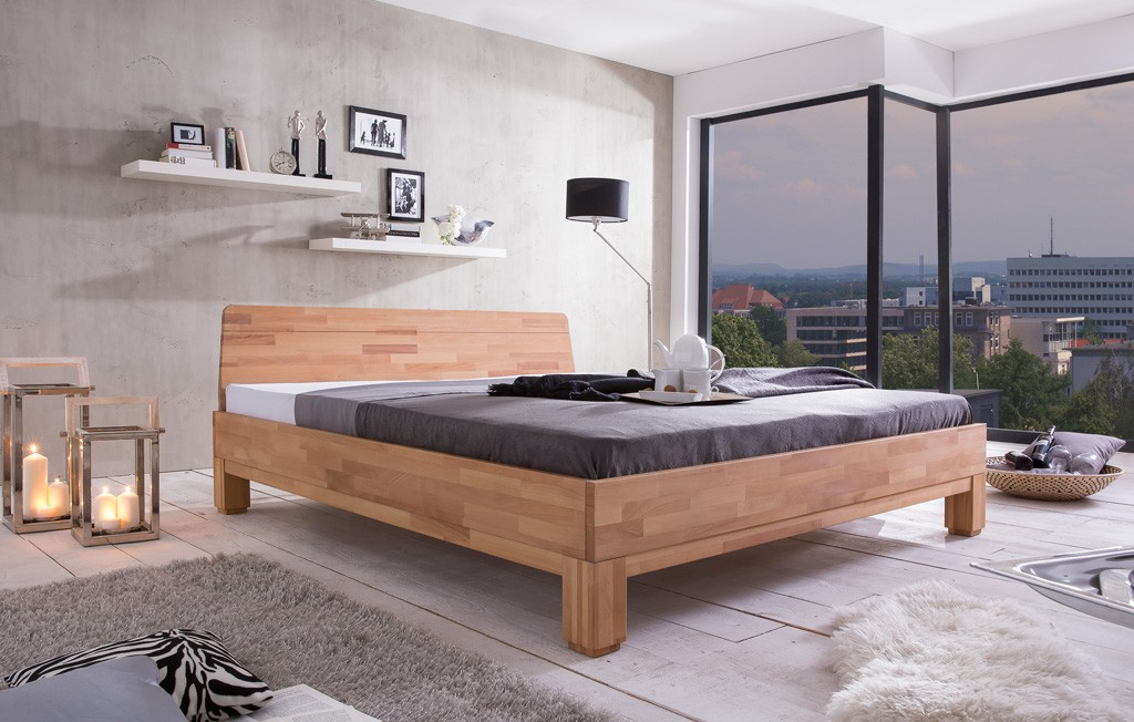 massivholzbett bettgestell g nstig woodlive kernbuche wildeiche rivo ebay. Black Bedroom Furniture Sets. Home Design Ideas