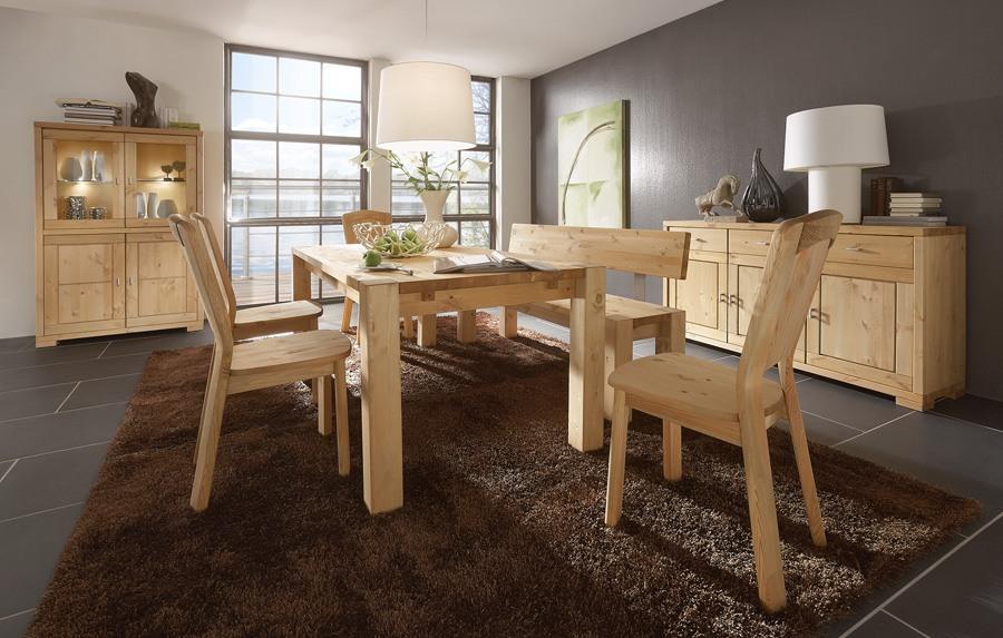 Tischgruppe Kiefer massiv gebeizt - geölt Guldborg