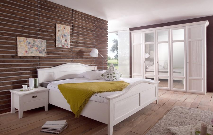 Schlafzimmer Landhausstil Komplett | Casa | Kiefer Teilmassiv | W02