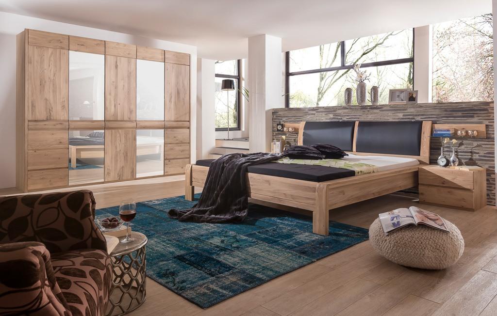 Schlafzimmer komplett Set Landhausstil Asteiche Bianco Ottowa MMI Möbel