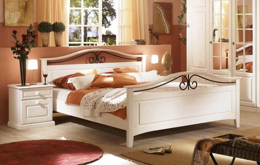 doppelbett bettgestell landhausstil san diego kiefer. Black Bedroom Furniture Sets. Home Design Ideas