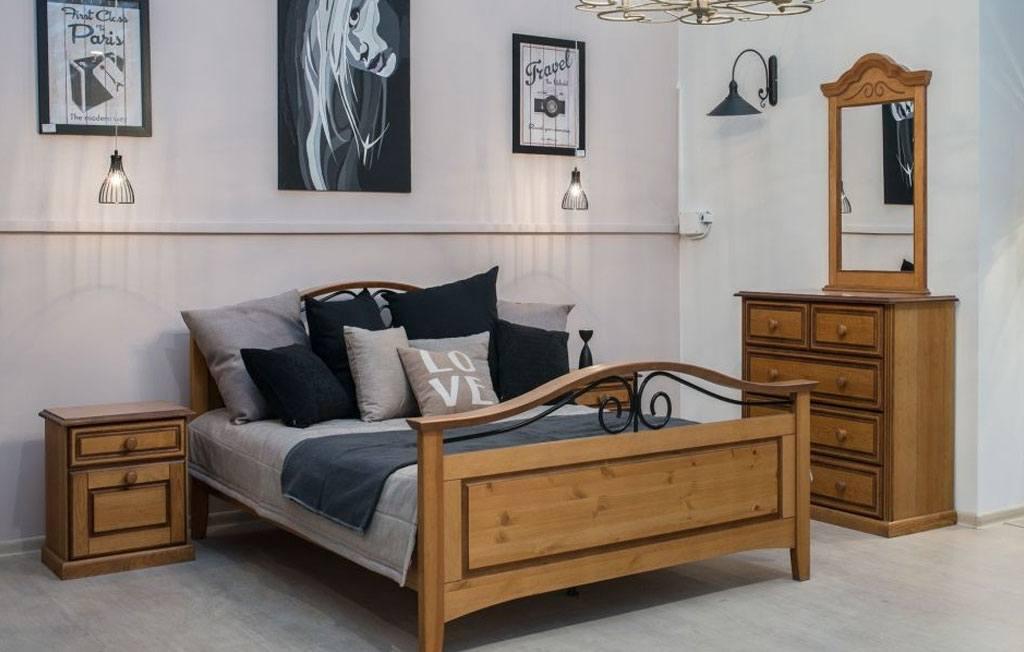 Landhausstil Schlafzimmer Old‐styleHoniggewischt teilmassiv San Diego