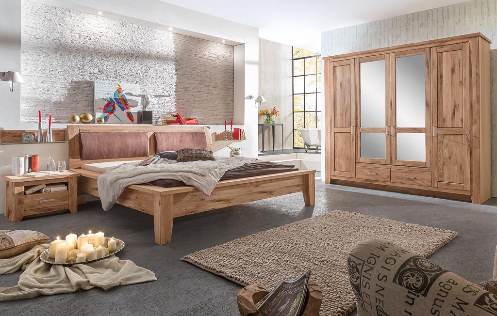 Schlafzimmer Landhausstil Set Asteiche Bianco Toronto MMI Möbel