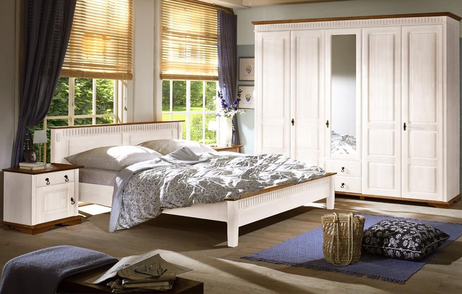 landhausstil schlafzimmer komplett | valencia | romantik weiss | w03, Schlafzimmer ideen