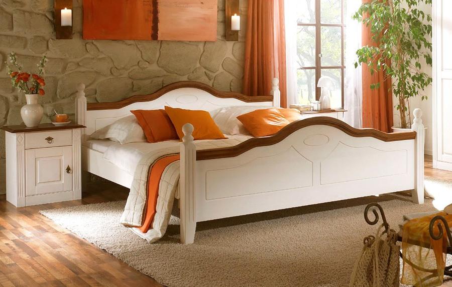 Abbildung Landhausstil Komfortbett weiß Wales | D51