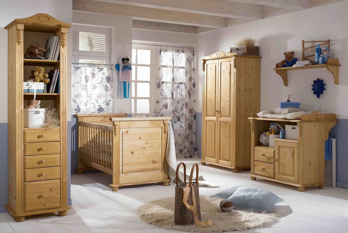 babyzimmer landhausstil komplett roma kiefer massivholz r01. Black Bedroom Furniture Sets. Home Design Ideas