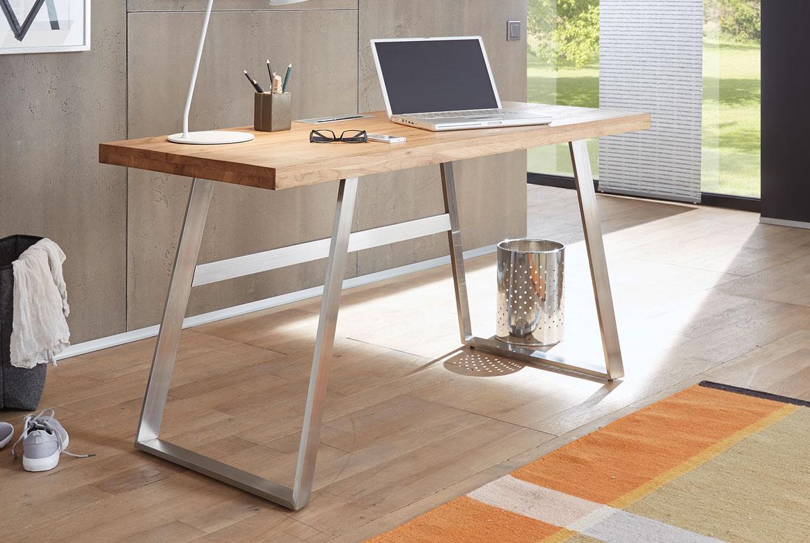 Schreibtisch Asteiche teilmassiv Andria.