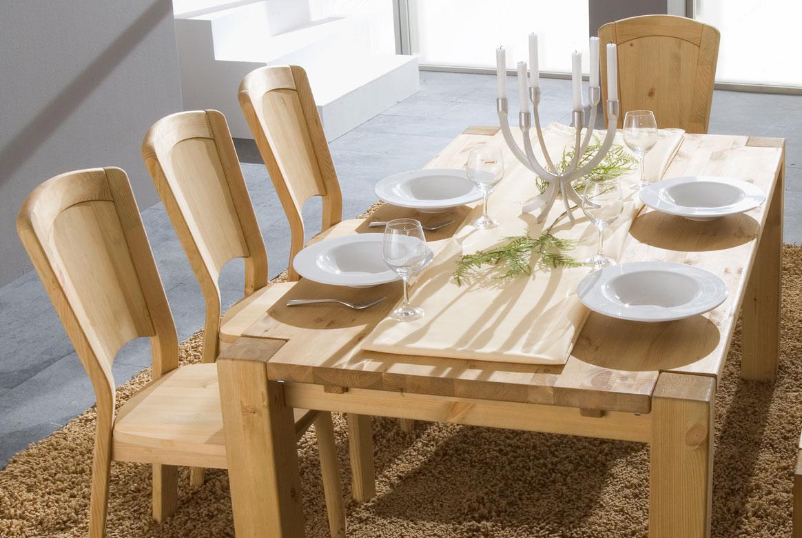 Tischgruppe Kiefer massiv gebeizt - geölt Vita | G01