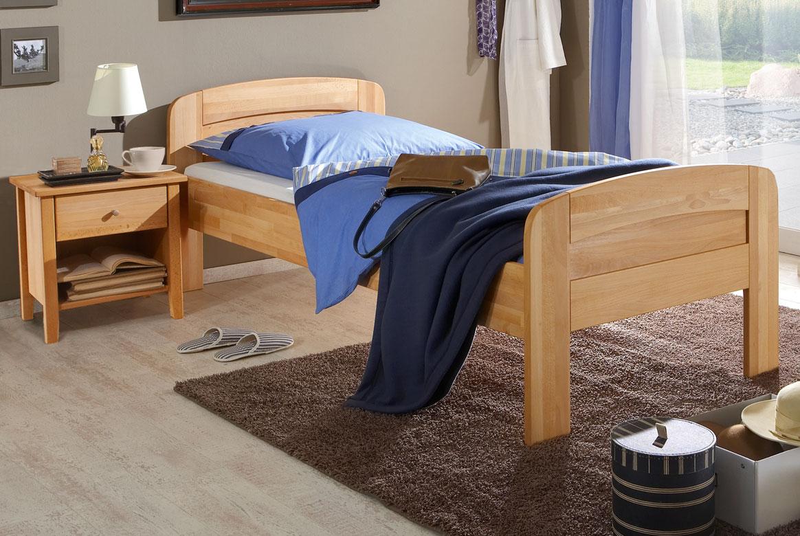 Abbildung M&H Seniorenbett Massivholz höhenverstellbar Comfort II | CS3