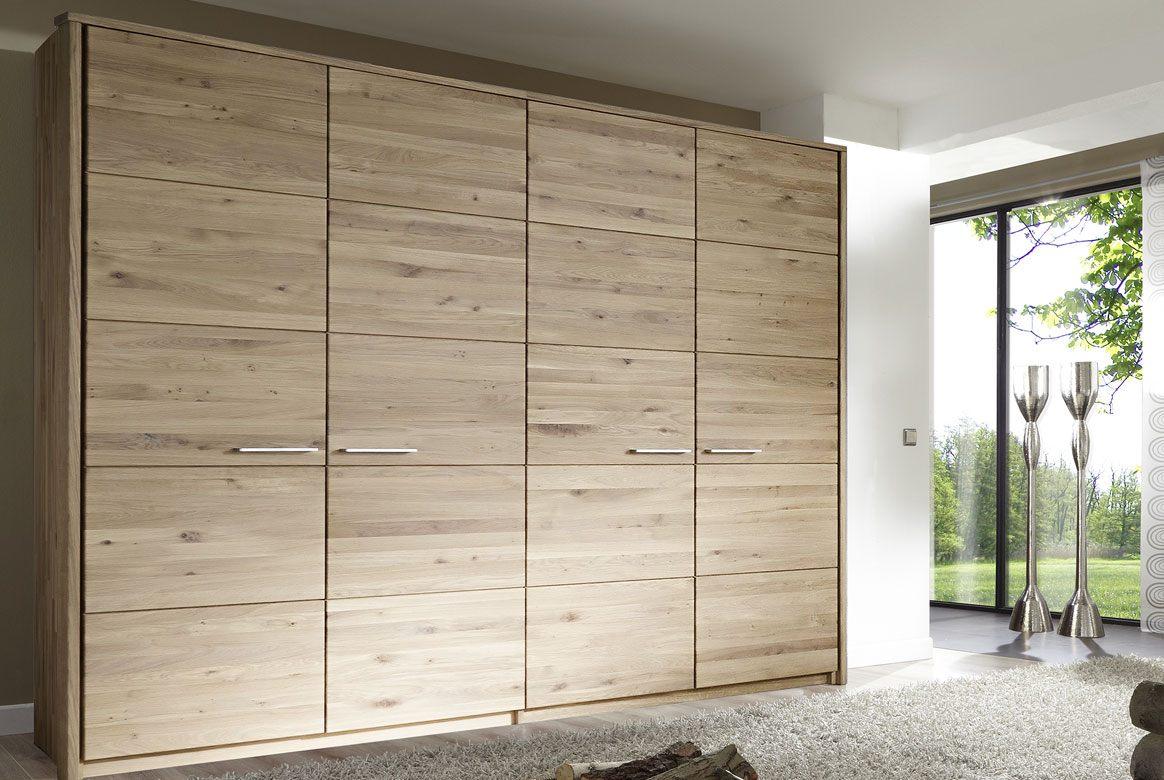 Abbildung Kleiderschrank Massivholz Wildeiche Bianco geölt | Front 6