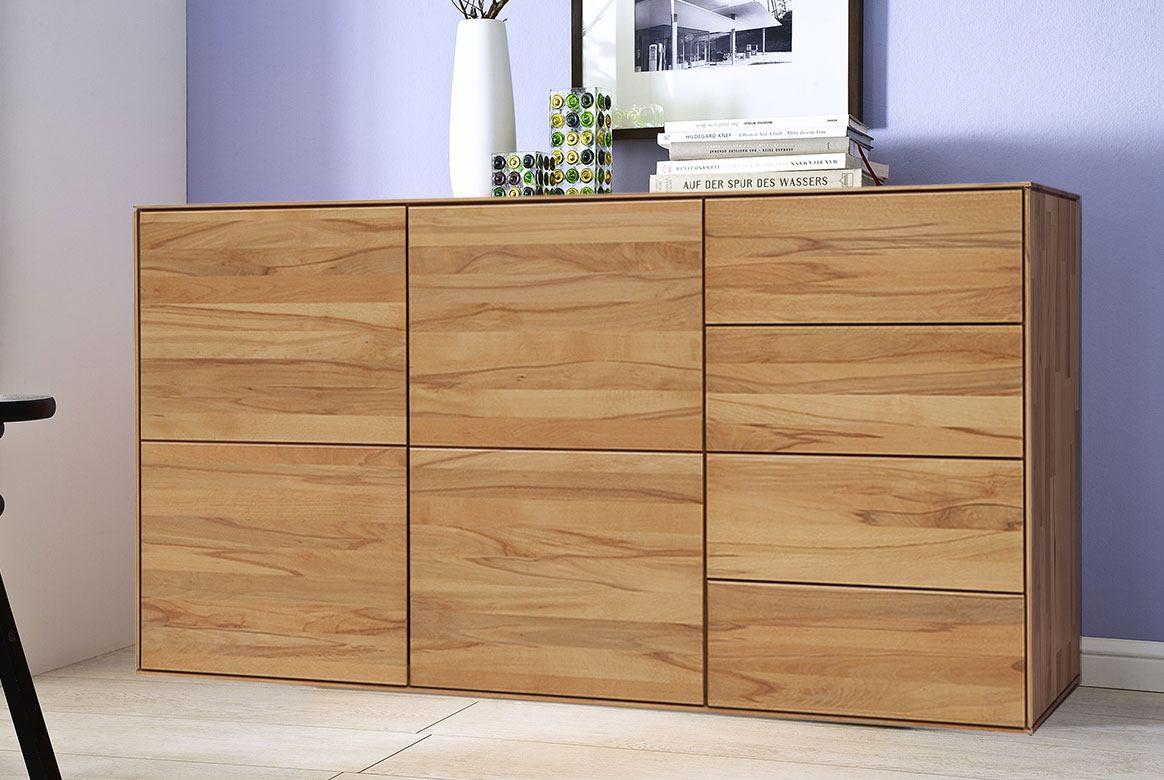 Abbildung Schlafzimmer Sideboardn Massivholz Buche geölt | Mercur T3