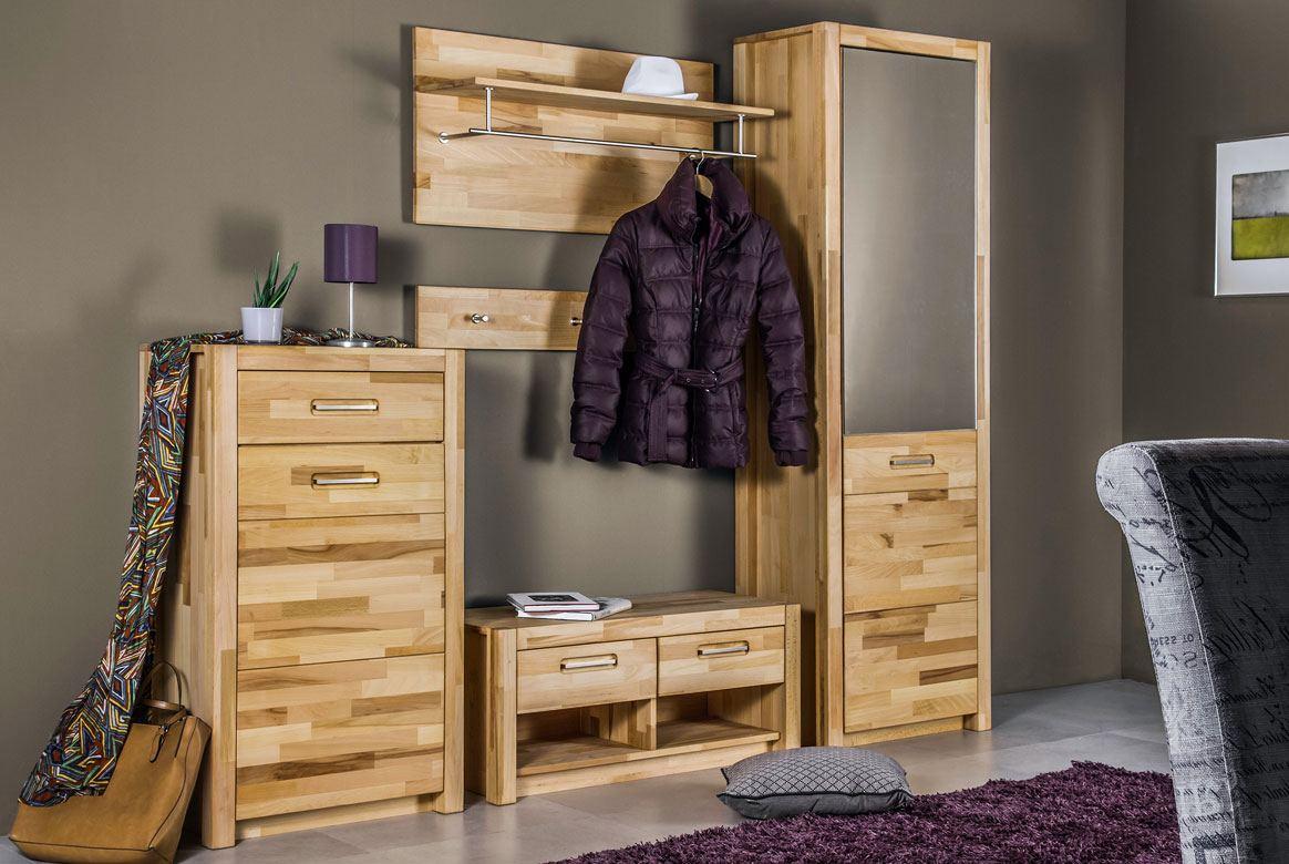 garderoben set teilmassiv fenja wildeiche ge lt g01. Black Bedroom Furniture Sets. Home Design Ideas