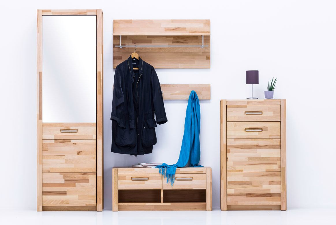 garderobe komplett massivholz fenja flurgarderobe set. Black Bedroom Furniture Sets. Home Design Ideas