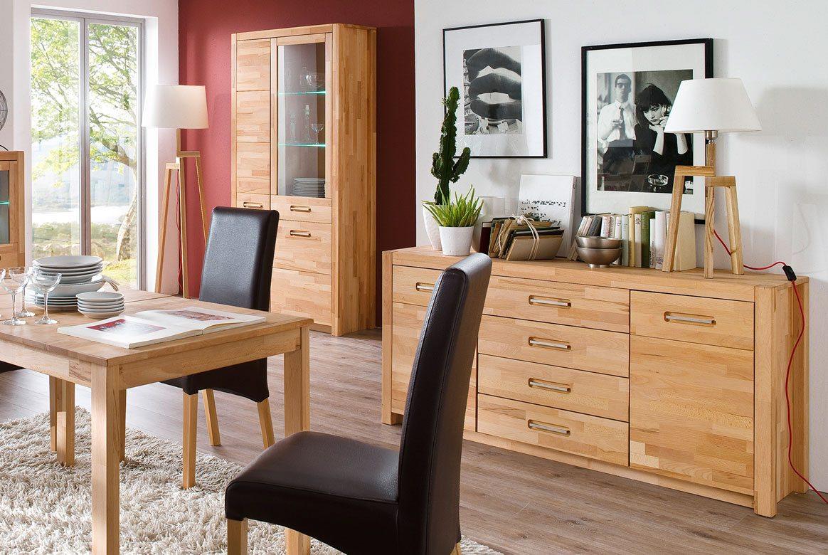 vitrine massivholz fenja kernbuche massiv ge lt t12. Black Bedroom Furniture Sets. Home Design Ideas