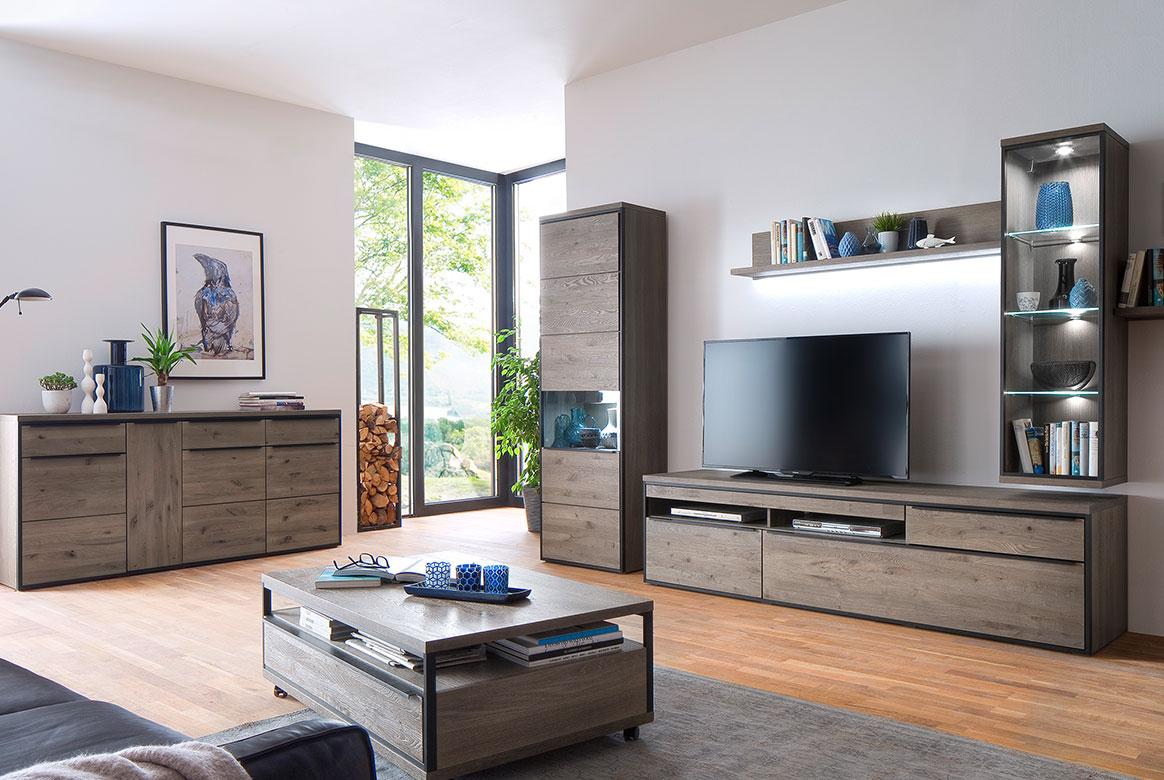 wandboard eiche teilmassiv avignon geb rstet stone. Black Bedroom Furniture Sets. Home Design Ideas