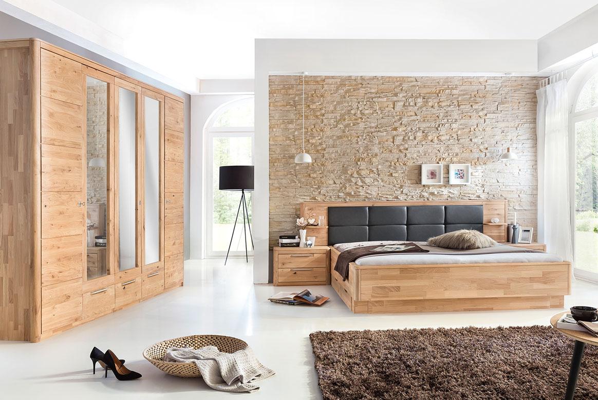 Schlafzimmer Massivholz Eiche bianco Micaja | S01