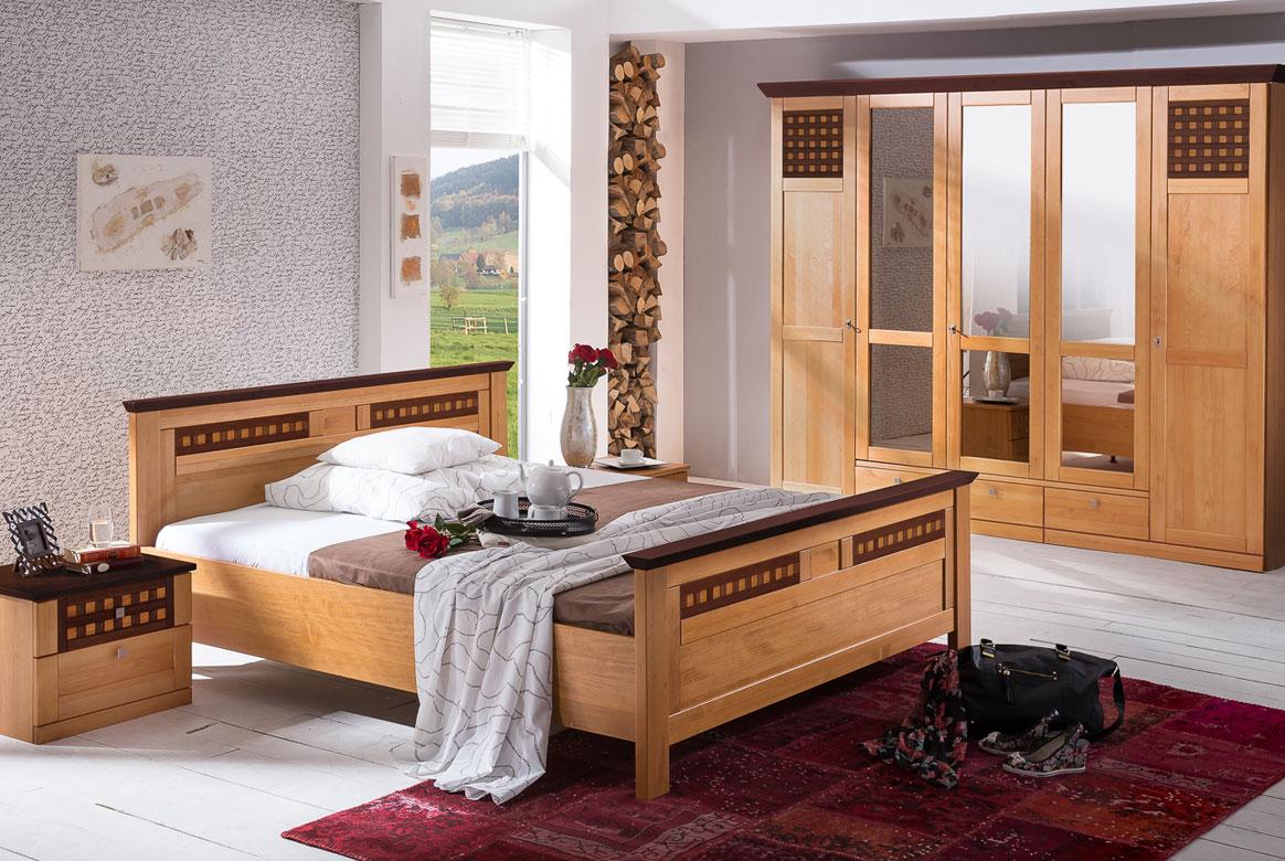 Schlafzimmer Landhaus weiß teilmassiv Roma