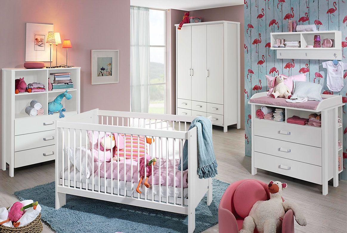 Babyzimmer komplett modern weiss | Kristin | Spar Set | M01