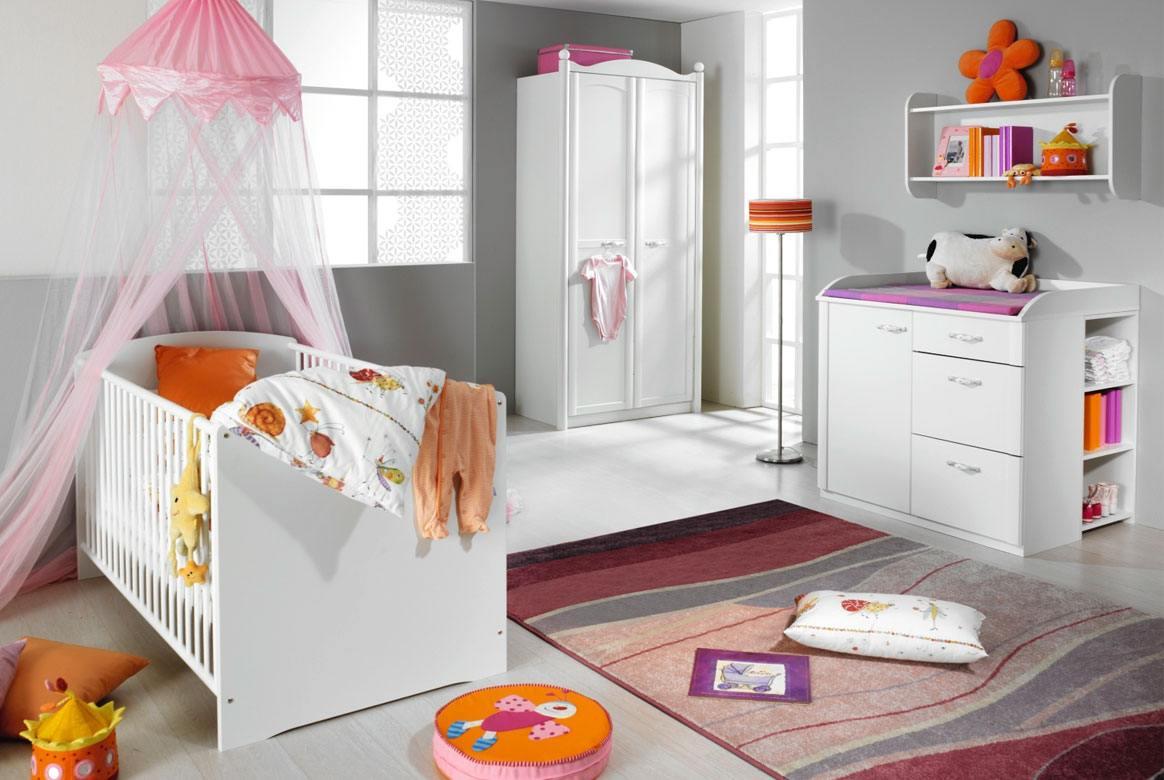 Abbildung Babyzimmer modern weiss Lilly | W35