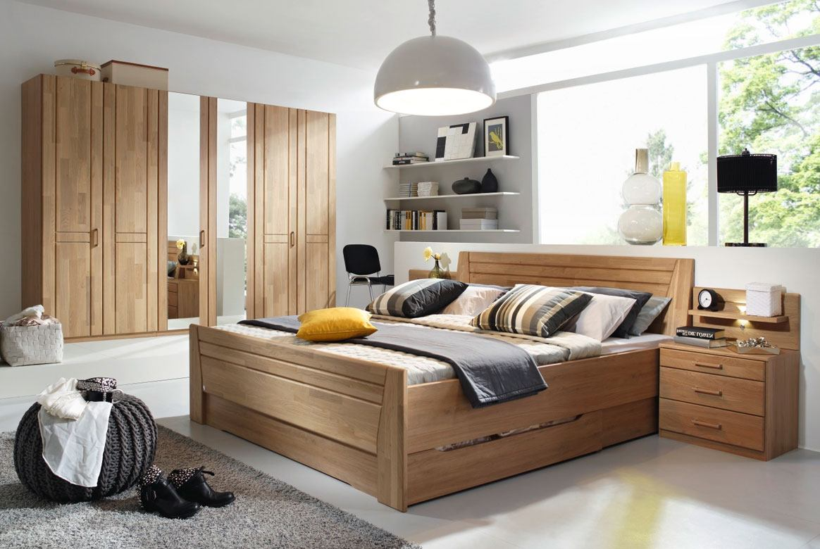 schlafzimmer wildeiche komplett modern sitara teilmassiv eiche w55 ebay. Black Bedroom Furniture Sets. Home Design Ideas