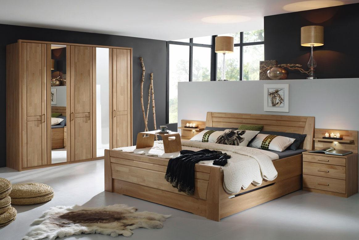 schlafzimmer set komplett modern sitara teilmassiv wildeiche w71 ebay. Black Bedroom Furniture Sets. Home Design Ideas