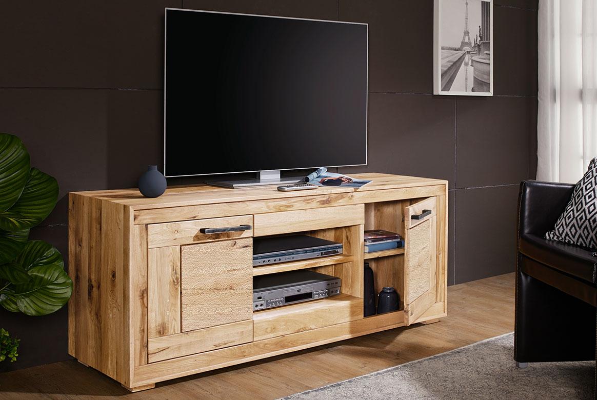 TV -Element Massivholz Wildeiche geölt Fenja | T04