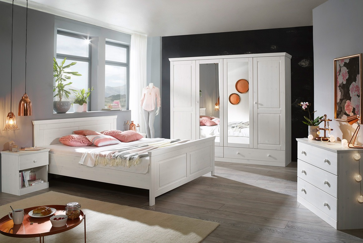 Kleiderschrank | Eleganze | Kiefer Massivholz | T01