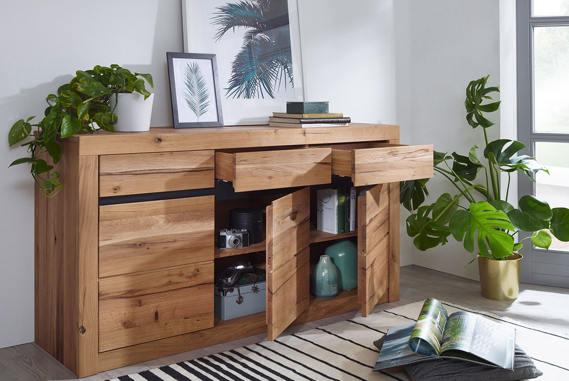 Sideboard Massivholz Wildeiche geölt Toskana | G01