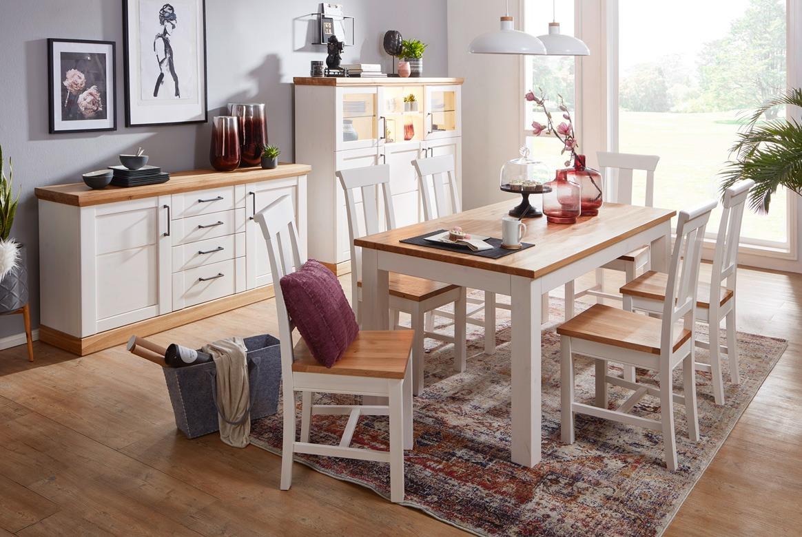 Tischgruppe Landhausstil weiss Season | G01
