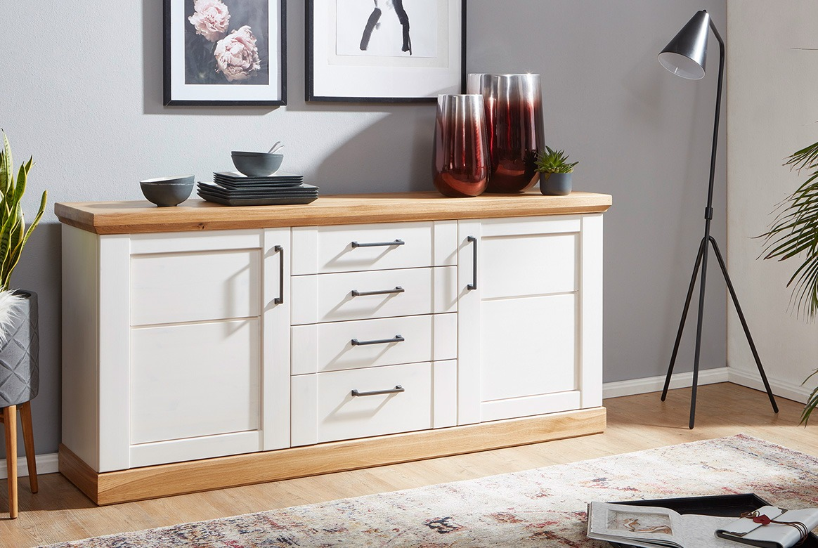 Sideboard Landhausstil weiss Season| T06