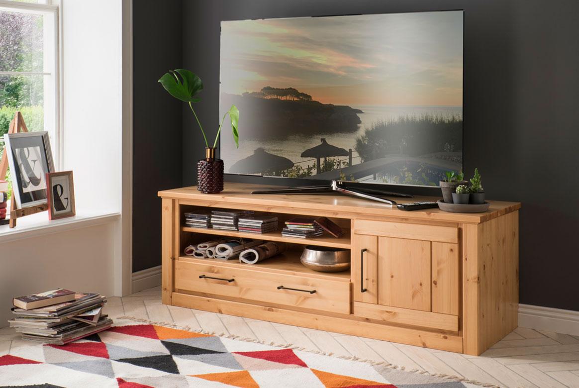 TV-Lowboard Set Kiefer Massivholz Gotland | T11