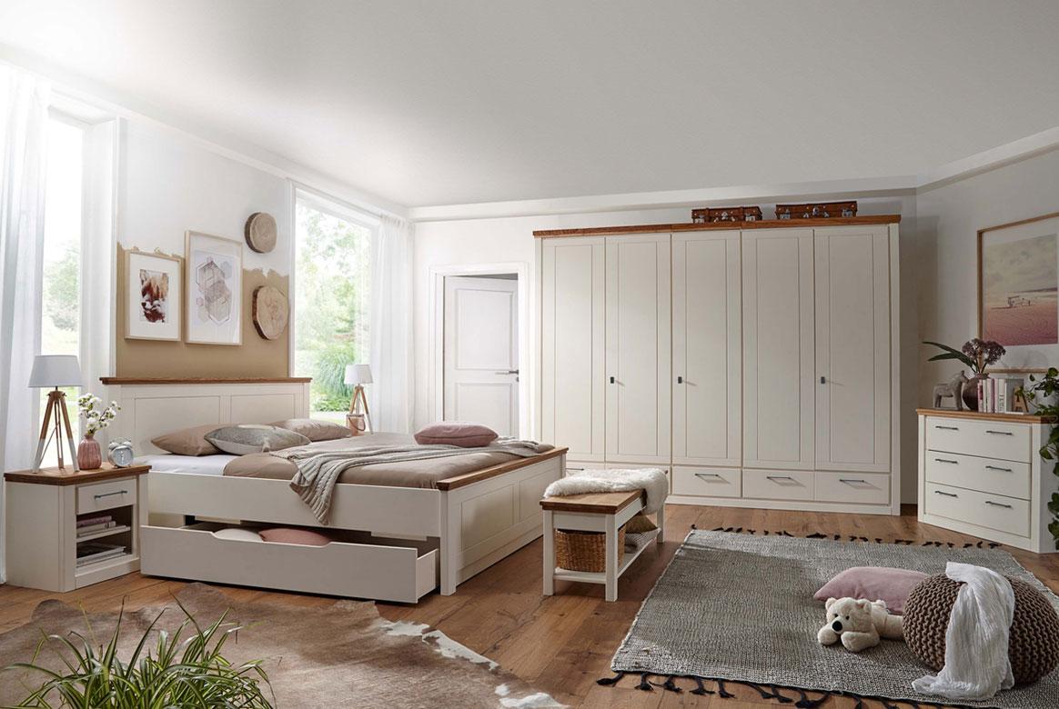 Schlafzimmer Landhausstil weiss X-Line.