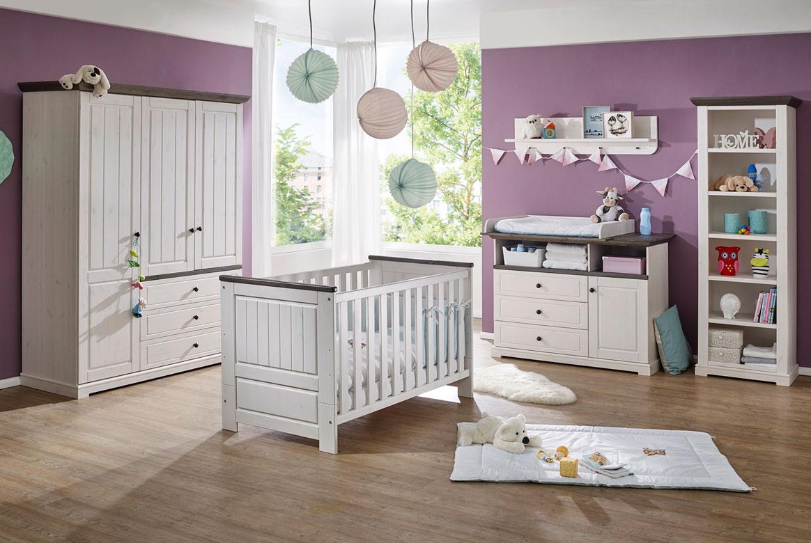 Babyzimmer Landhausstil komplett | Jolina | Kiefer Massivholz | B01