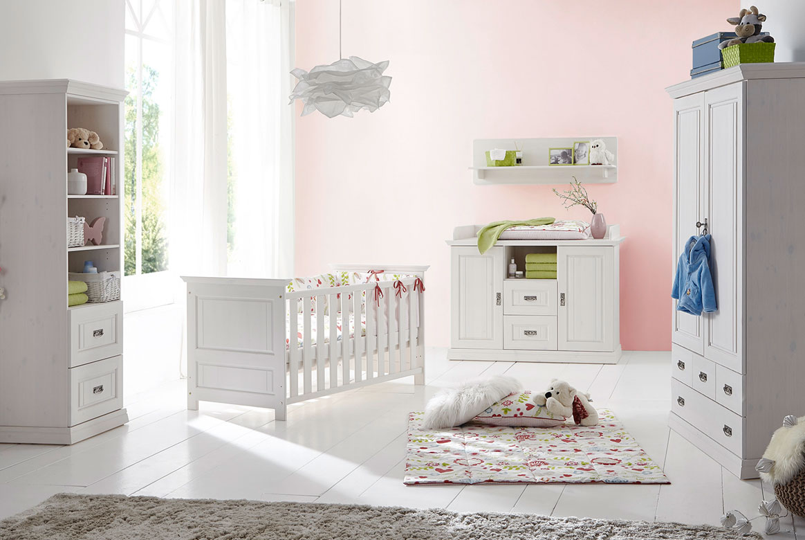 Babyzimmer Landhausstil weiss Odette.