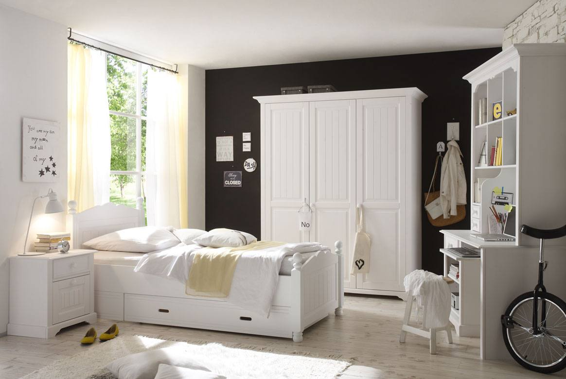 kleiderschrank landhausstil weiss cinderella kiefer t50. Black Bedroom Furniture Sets. Home Design Ideas