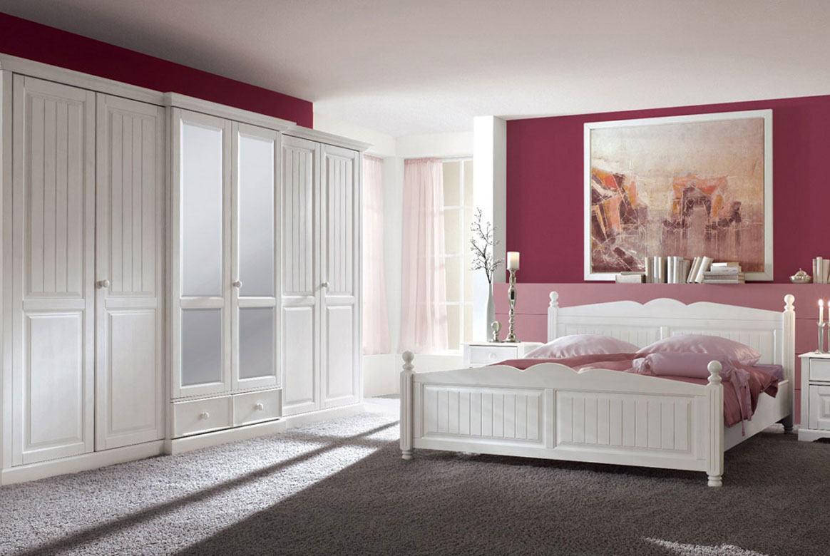landhausstil schlafzimmer komplett cinderella kiefer weiss w01. Black Bedroom Furniture Sets. Home Design Ideas