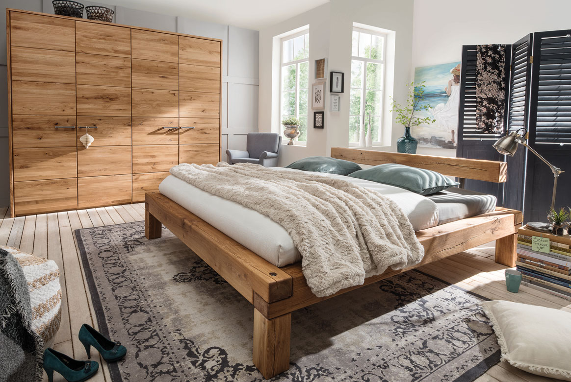 Abbildung Schlafzimmer Wildeiche Massivholz geölt TPT | S01